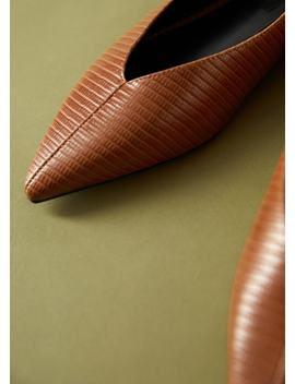 Texture Pointed Shoes by Mango