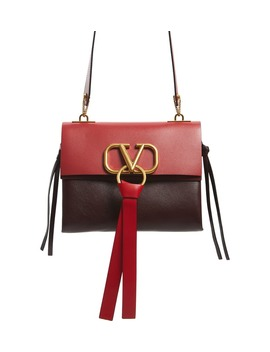 Small V Ring Colorblock Buffalo Leather Shoulder Bag by Valentino Garavani