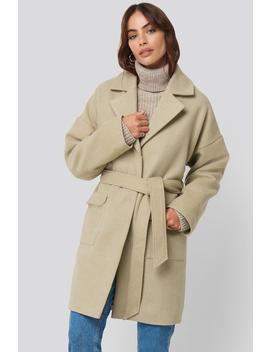 Oversized Midi Coat Beige by Hannalicious X Na Kd