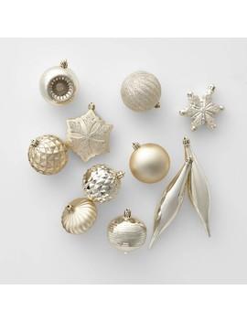40ct Christmas Ornament Set Champagne   Wondershop™ by Wondershop