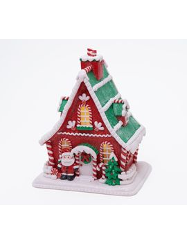 """As Is\"" 10\"" Illuminated Decorative Gingerbread House/ Valerie by The Valerie Parr Hill Collection Original Item Is H221139. This Product May Be A Customer Return, Vendor Sample, Or On Air Display And Is Not In Its Originally Manufactured Condition. It May Not Be New. In Some Instances, These Items Are Repackaged By Qvc."