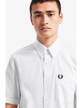 Short Sleeve Oxford Shirt by Fred Perry