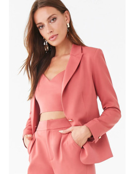 Blazer & Cropped Cami Set by Forever 21