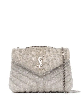 Loulou Embellished Shoulder Bag by Saint Laurent