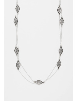 Metal Cut Out Drape Necklace by Maurices