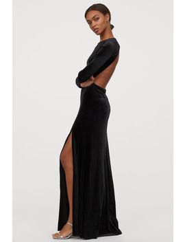 Long Velour Dress by H&M