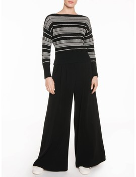 Crepe Pleated Wide Leg Pant by Veronika Maine