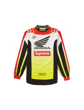 Supreme Honda Fox Racing Moto Jersey Top Red by Stock X