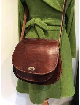 Brown Leather Saddle Bag Shoulder Bag Crossbody Bag by Etsy