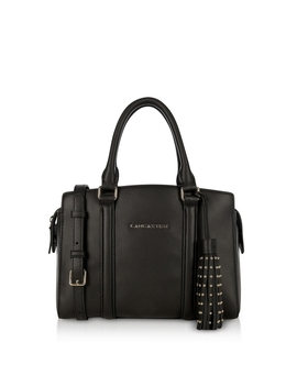 Ana Black Leather Small Tote Bag by Lancaster Paris