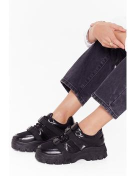 Chunky Double Strap Trainers by Nasty Gal