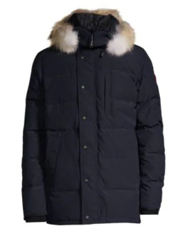 Carson Coyote Fur Trim Down Parka by Canada Goose