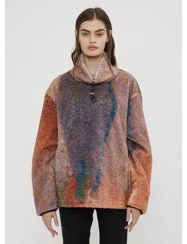 Funnel Neck Fleece In Orange by 1017 Alyx 9 Sm