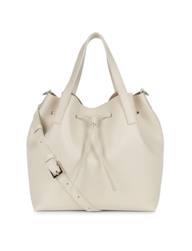 Lancaster Paris Medium Bucket Bag Genuine Soft Leather Nude Beige Tasche by Lancaster Paris