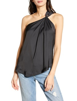 Tiki Satin One Shoulder Tank Top by Zadig & Voltaire