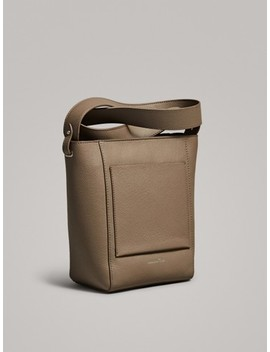 Leather Bucket Bag by Massimo Dutti