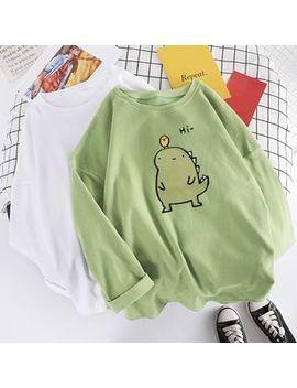Balitik   Long Sleeve Dinosaur Print T Shirt by Balitik