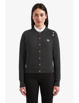 Amy Winehouse Foundation Strickjacke Mit Herzmotiv by Fred Perry