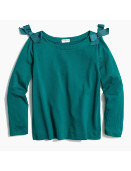 Girl's Bow Shoulder T Shirt by J.Crew