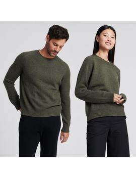 The Luxe Unisex Cashmere Sweater Olive by Naadam