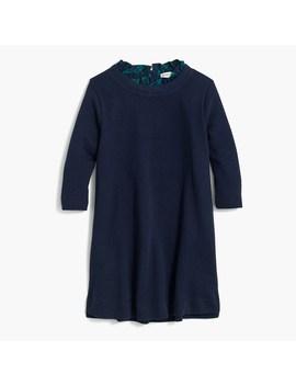 Girls' Ruffle Collar Sweatshirt Dress by J.Crew