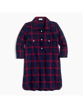 Girls' Flannel Shirtdress by J.Crew