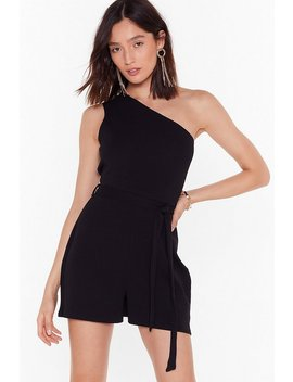 All In One Night Belted Playsuit by Nasty Gal