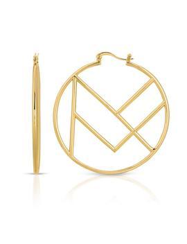 Add Mf Polishing Cloth Add Mf Gift Wrap Kit Add Mf Care Pack Mf Hoop Earrings by Miranda Frye