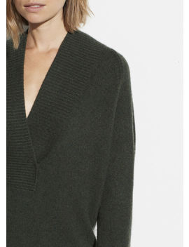 Wool Cashmere Shawl Collar Tunic by Vince