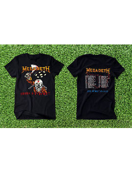 Vintage 1988 Megadeth Killing Is My Business Concert Tour New T Shirt Gildan by Gildan