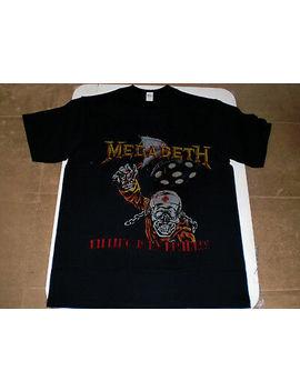 Vintage 1988 Megadeth Killing Is My Business Concert Tour T Shirt Thrash Reprint by Gildan
