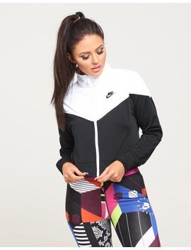 Nike Women's Nike Sportswear Jacket Black/White/Black by Nike