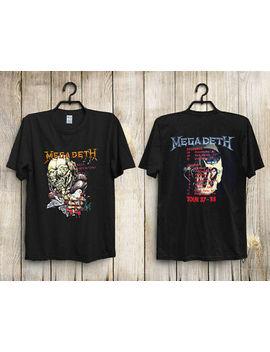Vtg 1987 Megadeth Peace Sells Tour T Shirt Reprint by Gildan