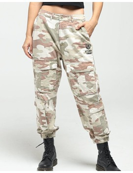 Stussy Women's Hunt Cargo Pant Camo by Stussy