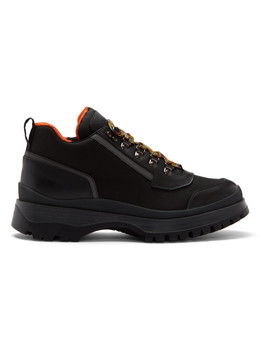 Black Hybrid Hiking Boots by Prada