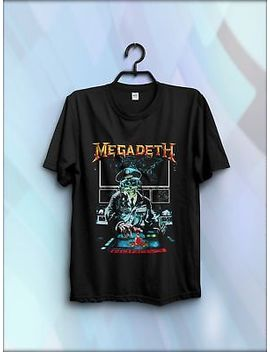 Best Vintage Megadeth Rust In Peace Tour Concert 1990 Shirt Reprint New Us Size by Gildan