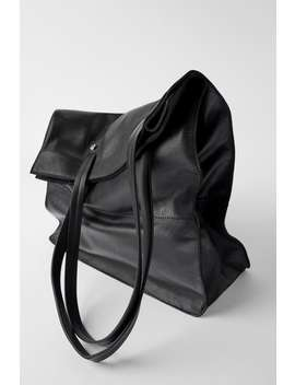 Borsa Shopper In Pelle by Zara