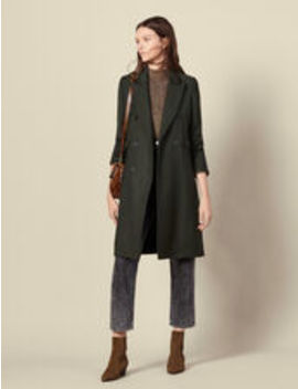 Long Wool Coat by Sandro Eshop