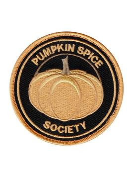 Pumpkin Spice Society Iron On Patch For Fall Holiday Fans And Lovers Of The Seasonal Cinnamon, Nutmeg, Ginger And Cloves Mixture Of Spices by Etsy