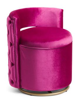 Rue Back Tufted Swivel Storage Vanity Stool by Tj Maxx