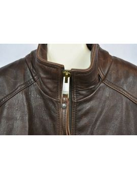 Andrew Marc New York Brown Mens Heavy Lined Brown Leather Jacket Size Xl by Andrew Marc New York
