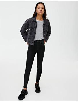 Basic Jeans Im Skinny Fit Mit Hohem Bund by Pull & Bear