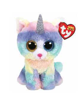 Ty Beanie Boo Large Heather The Unicorn Cat Plush Toy by Claire's