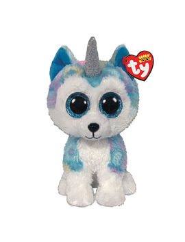 Ty Beanie Boo Medium Helena The Unicorn Husky Plush Toy by Claire's