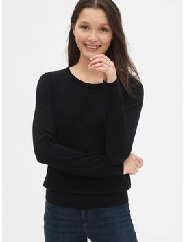 Crewneck Sweater In Merino Wool by Gap