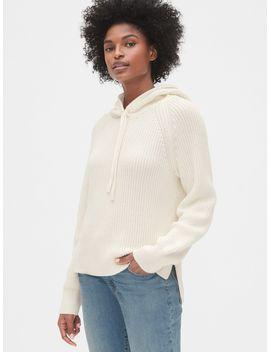 Shaker Stitch Hoodie Sweater by Gap