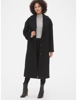 Oversized Longline Wool Blend Coat by Gap
