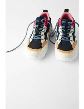 Multicoloured Contrast Sneakers by Zara