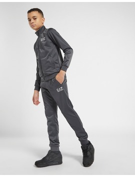Emporio Armani Ea7 Poly Tricot Tracksuit Junior by Jd Sports