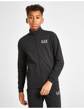 Emporio Armani Ea7 Train Core French Terry Tracksuit Junior by Jd Sports